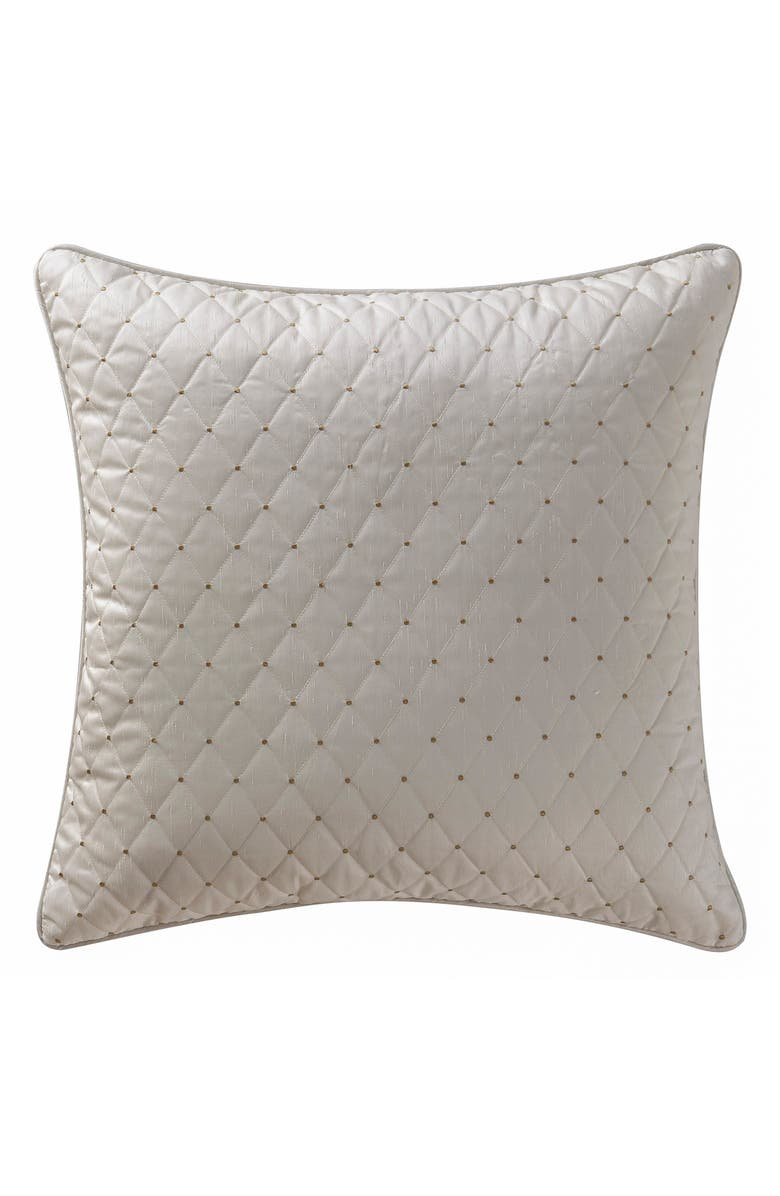WATERFORD Chantelle Euro Sham, Main, color, TAUPE