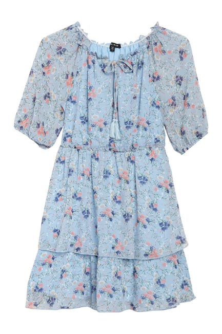 Image of MAX & ASH Double Tier Floral Dress