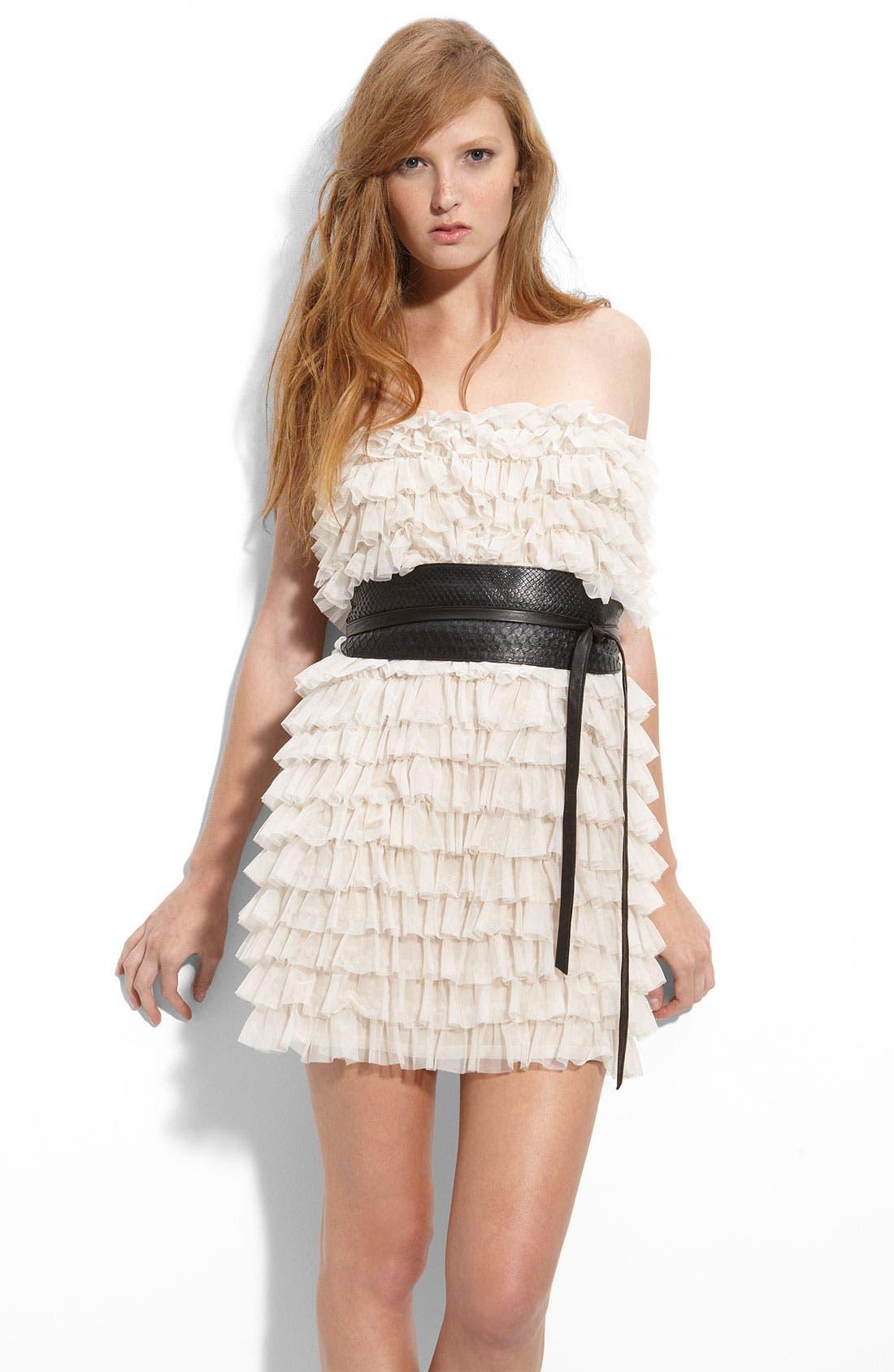 ,                             Ruffled Minidress,                             Main thumbnail 1, color,                             250