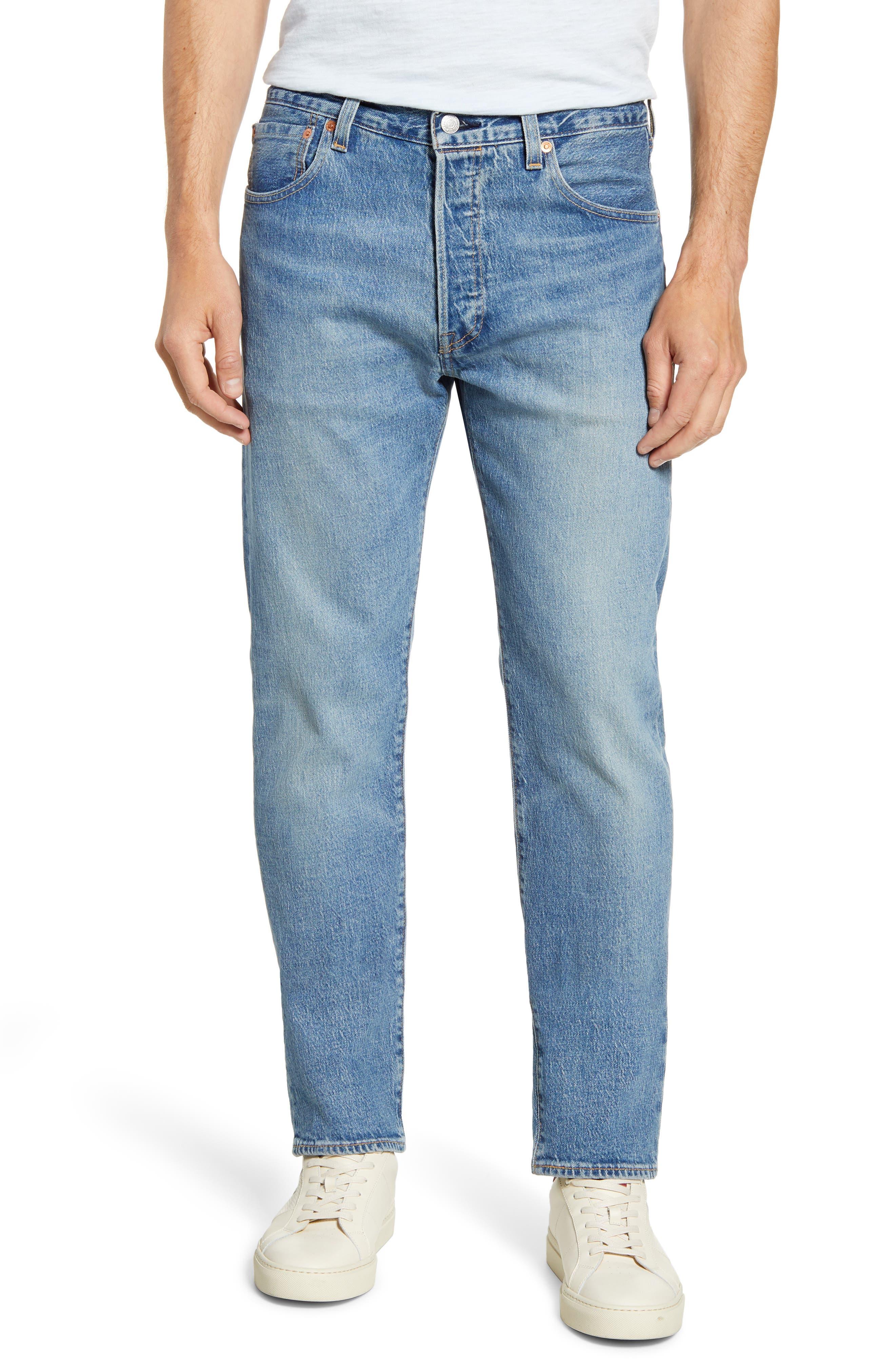 men's levi's 501 '93 straight leg jeans, size 38 x 32 - blue