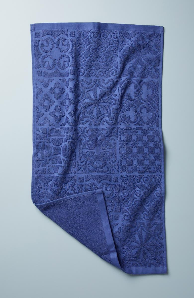 ANTHROPOLOGIE Mack Bath Towel, Main, color, WHITE/ NAVY