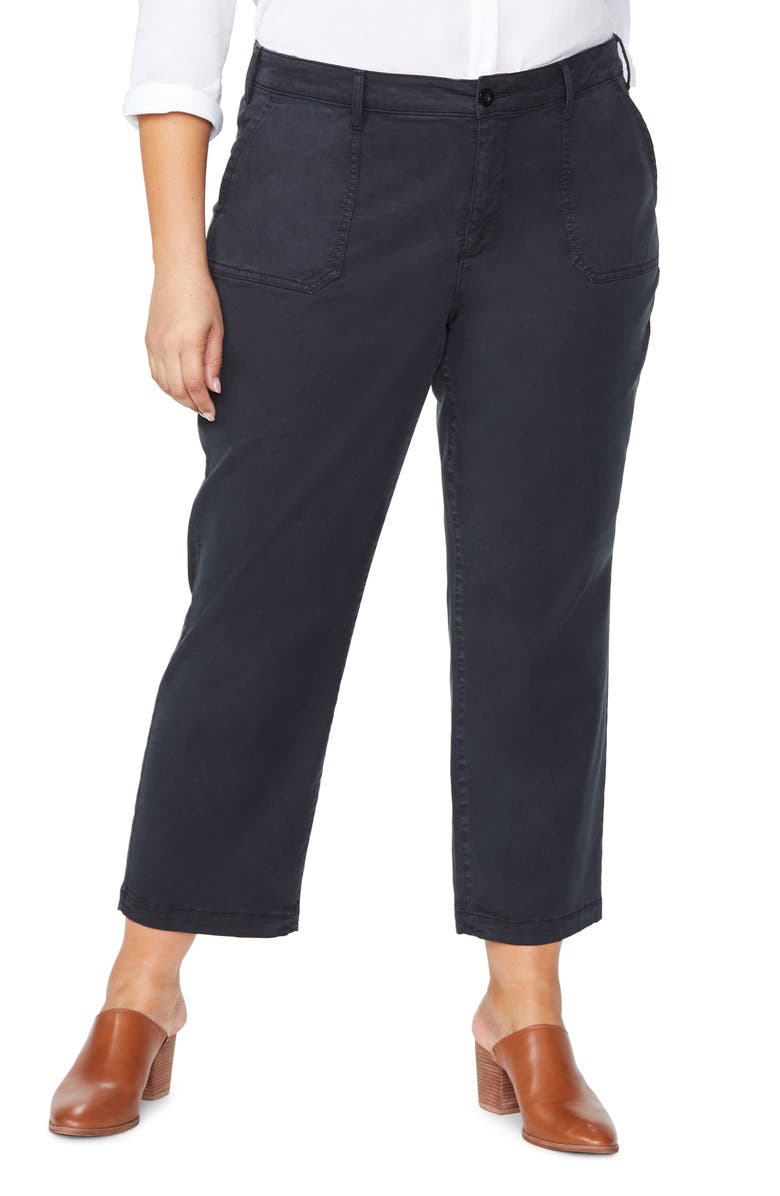 NYDJ Marilyn Ankle Chino Pants, Main, color, BLACK