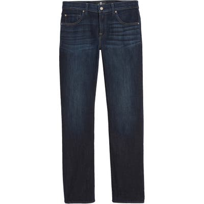 7 For All Mankind The Straight Luxe Performance Slim Straight Leg Jeans Blue