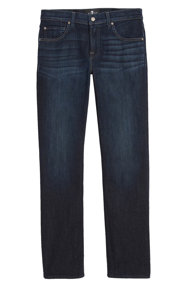7 FOR ALL MANKIND<SUP>®</SUP> The Straight Luxe Performance Slim Straight Leg Jeans, Main, color, LOS ANGELES DARK