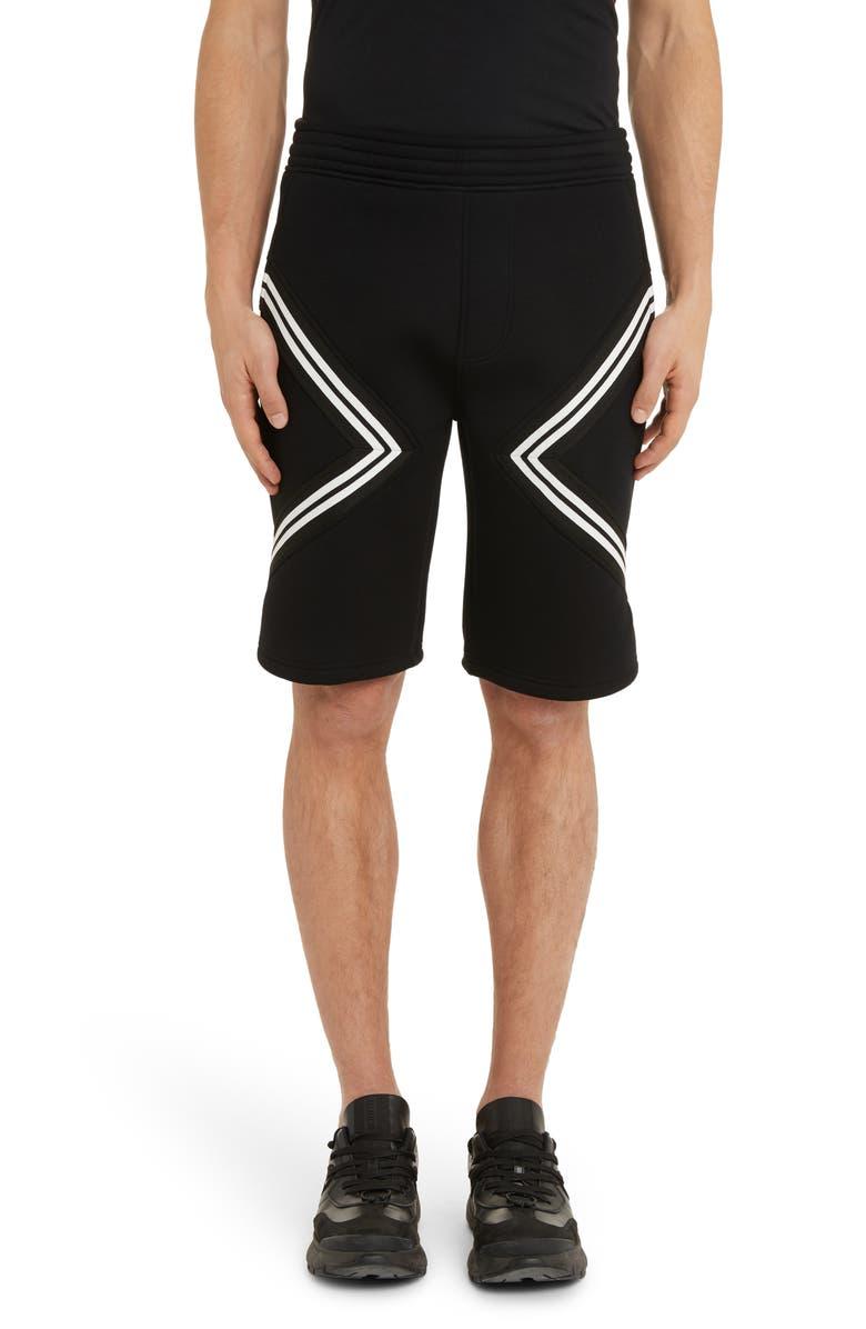NEIL BARRETT Band Shorts, Main, color, BLACK