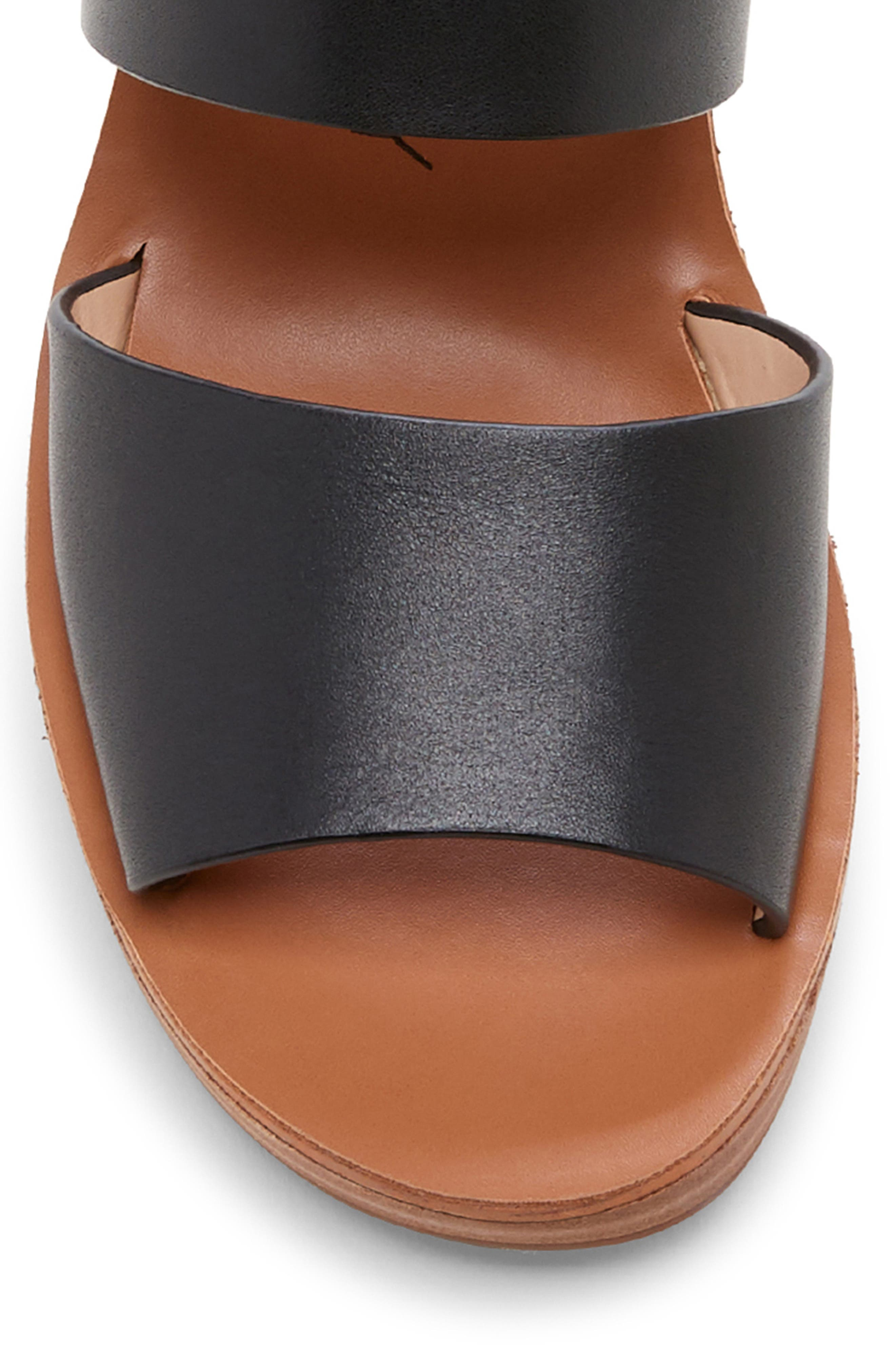 ,                             Pavlina Platform Wedge Sandal,                             Alternate thumbnail 8, color,                             BLACK LEATHER