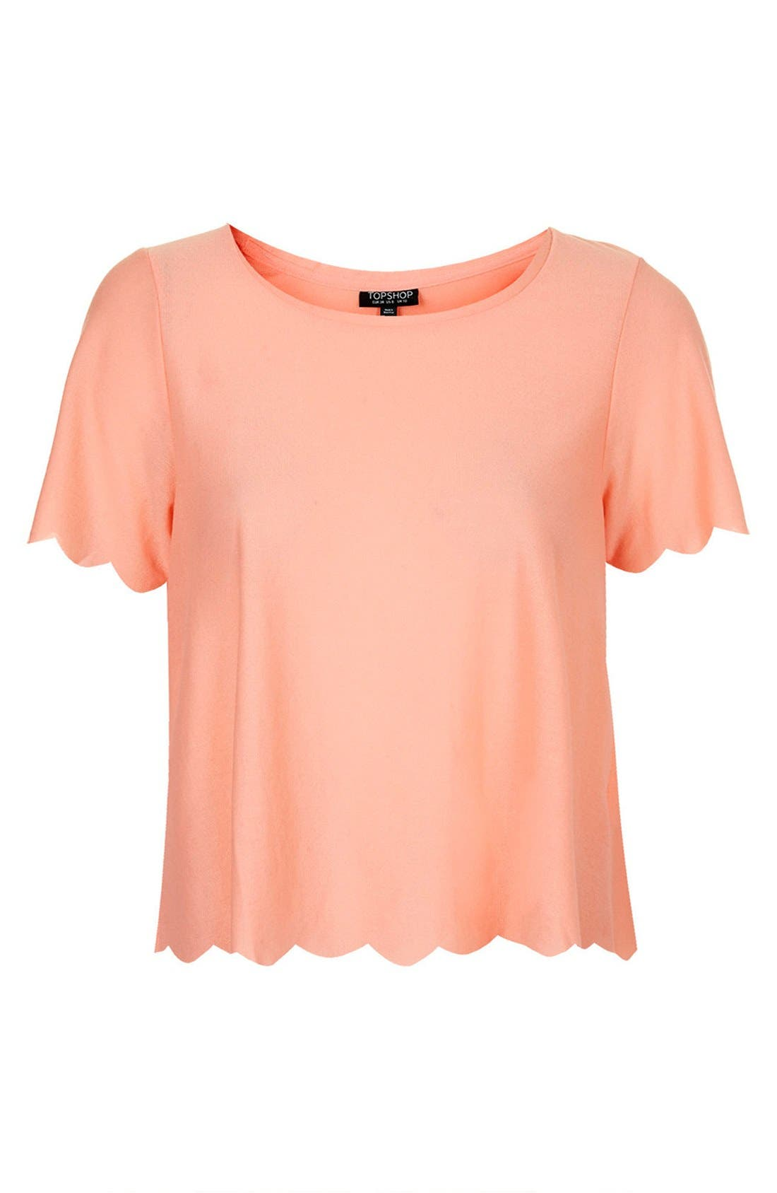 ,                             Scallop Frill Tee,                             Alternate thumbnail 48, color,                             950