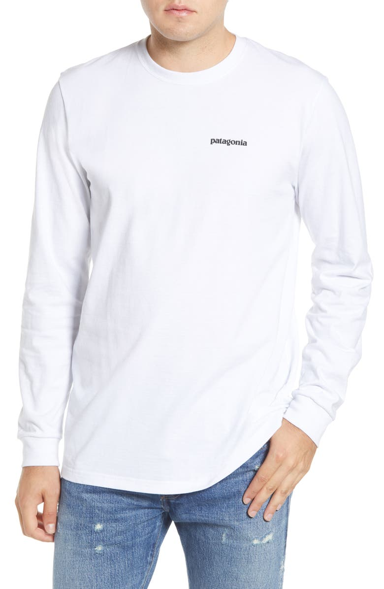 PATAGONIA Fitz Roy Bison Responsibili-Tee<sup>®</sup> T-Shirt, Main, color, WHITE