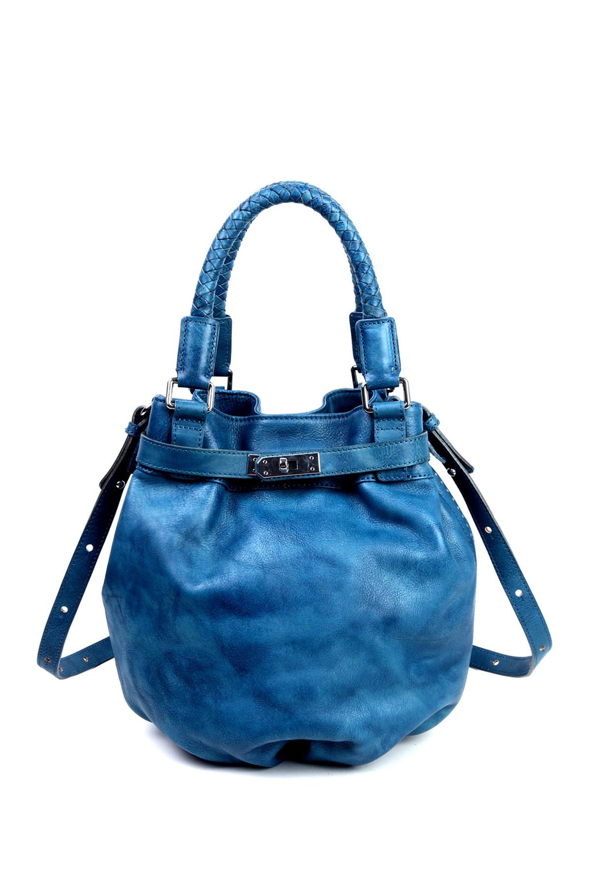 Image of Old Trend Leather Pumpkin Bucket Bag