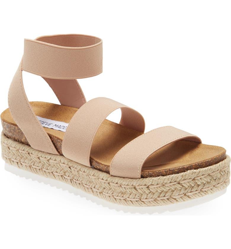 STEVE MADDEN Kimmie Flatform Sandal, Main, color, BLUSH