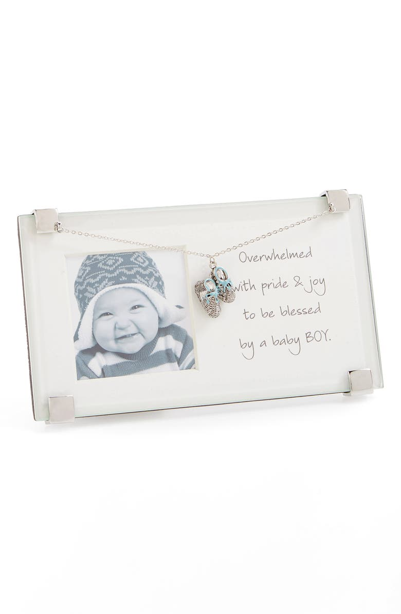 MUD PIE New Baby Boy Picture Frame, Main, color, 400