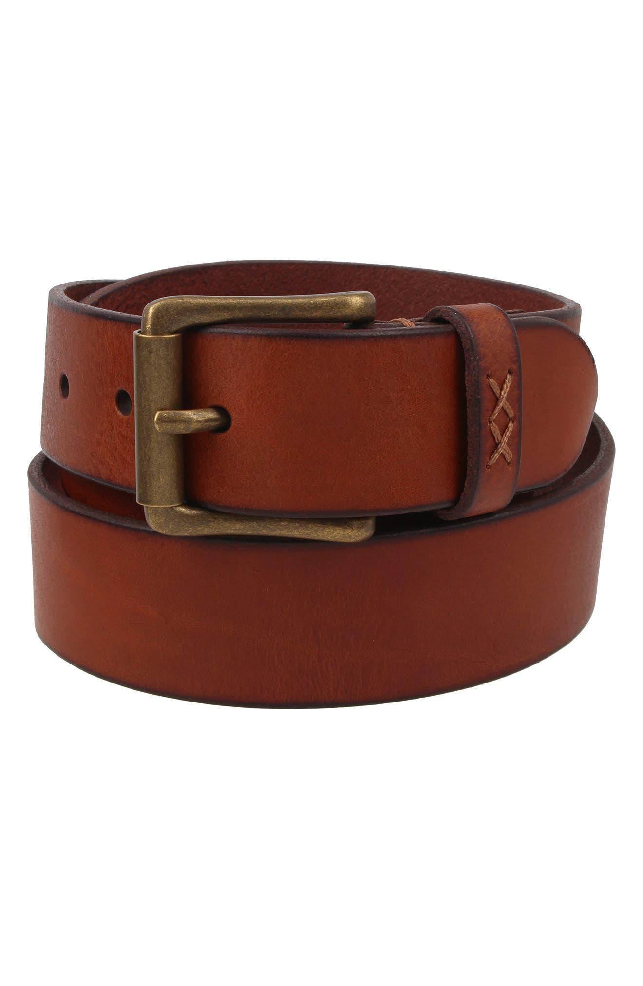 Flat Panel Leather Belt