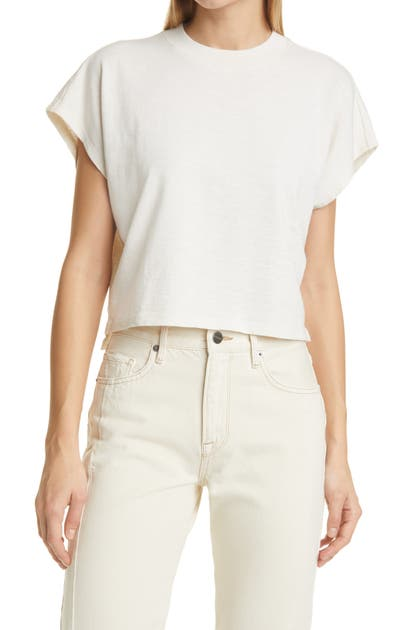 Frame Cottons OFF DUTY ORGANIC COTTON CROP T-SHIRT