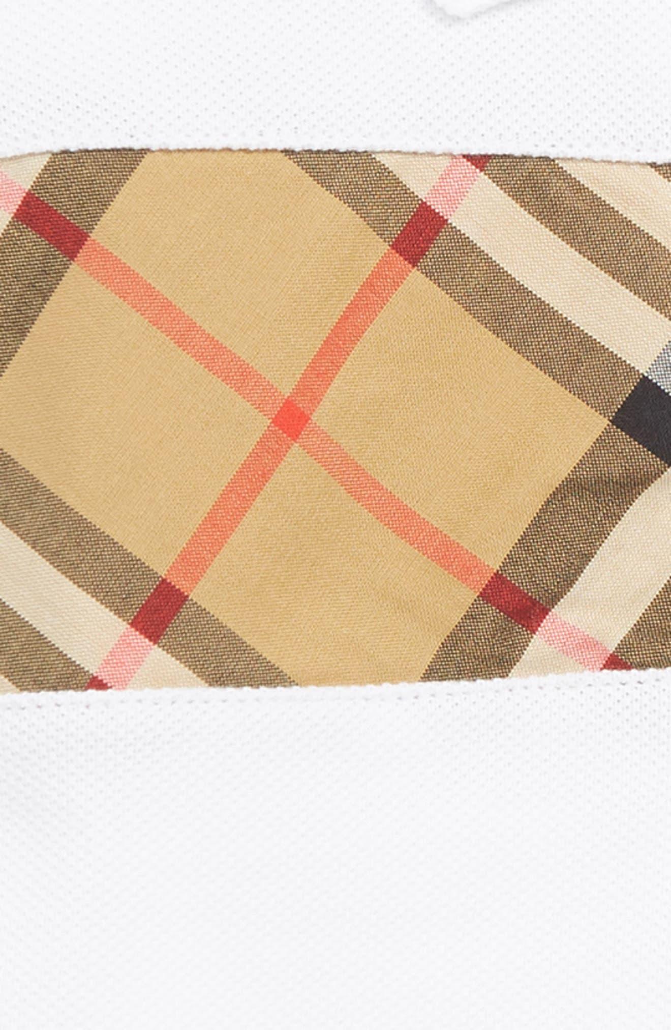 ,                             Check Stripe Polo,                             Alternate thumbnail 2, color,                             WHITE