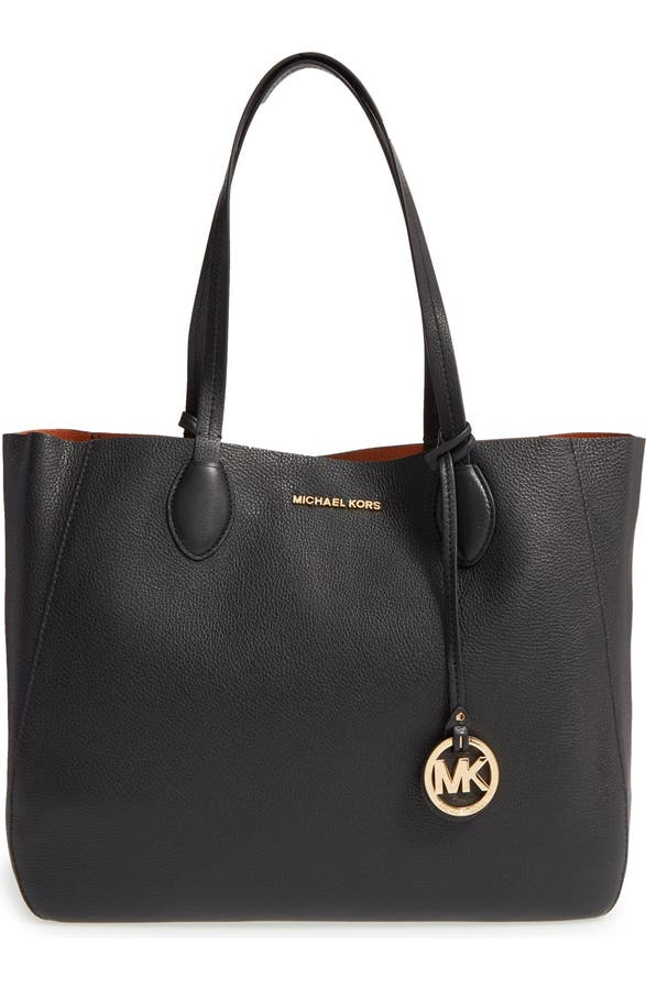 a2d2997248ef MICHAEL Michael Kors 'Large Mae' Reversible Leather Tote | Nordstrom