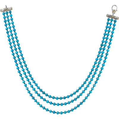 Lagos Caviar Icon Beaded Triple Strand Necklace