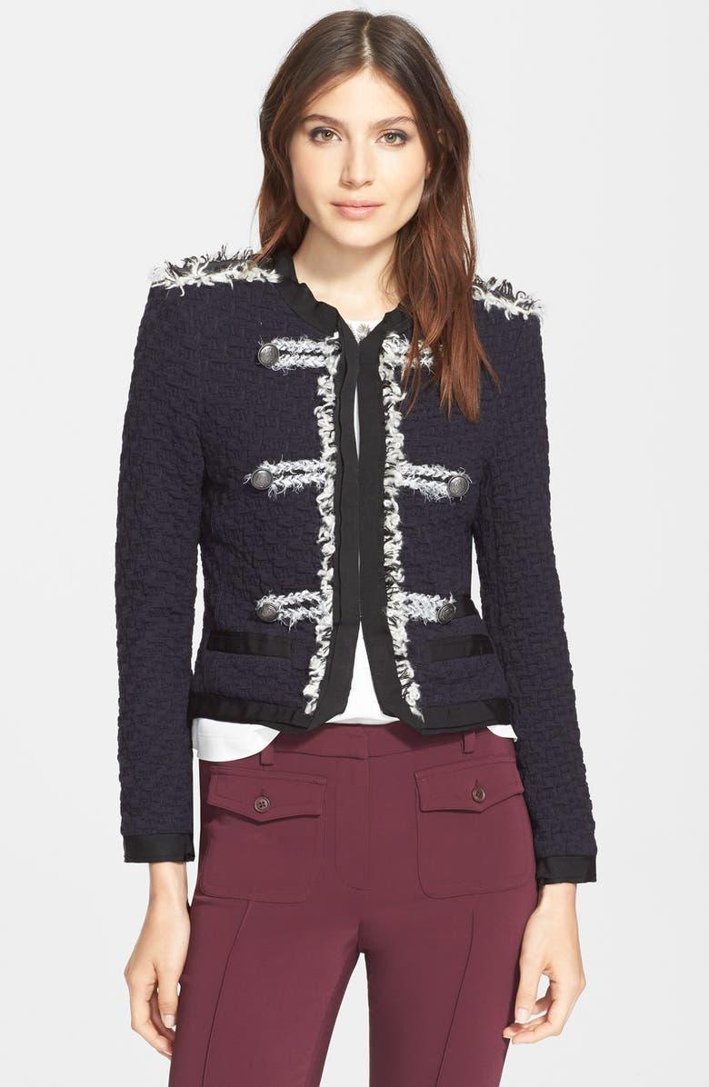 REBECCA TAYLOR 'Lana' Textured Jacket, Main, color, 410