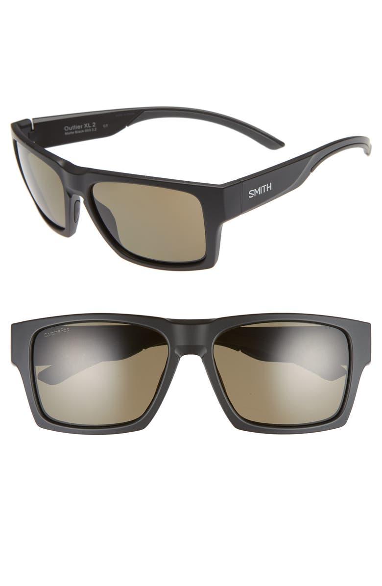 SMITH Outlier 2XL 59mm Polarized Sunglasses, Main, color, 001