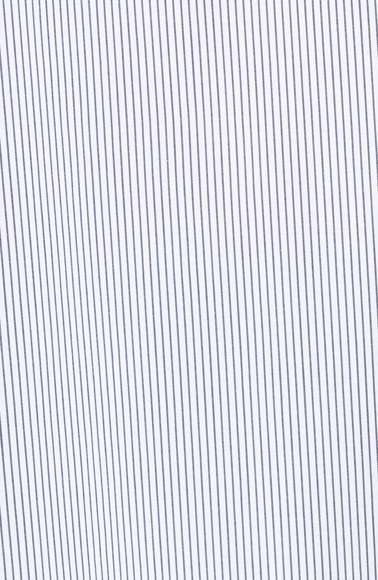 ,                             Ruffle Neck Shirt,                             Alternate thumbnail 5, color,                             BLACK/ WHITE