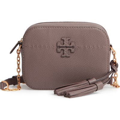 Tory Burch Mcgraw Leather Camera Bag - Brown