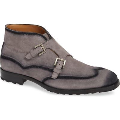 Mezlan Munoz Double Monk Strap Boot, Grey