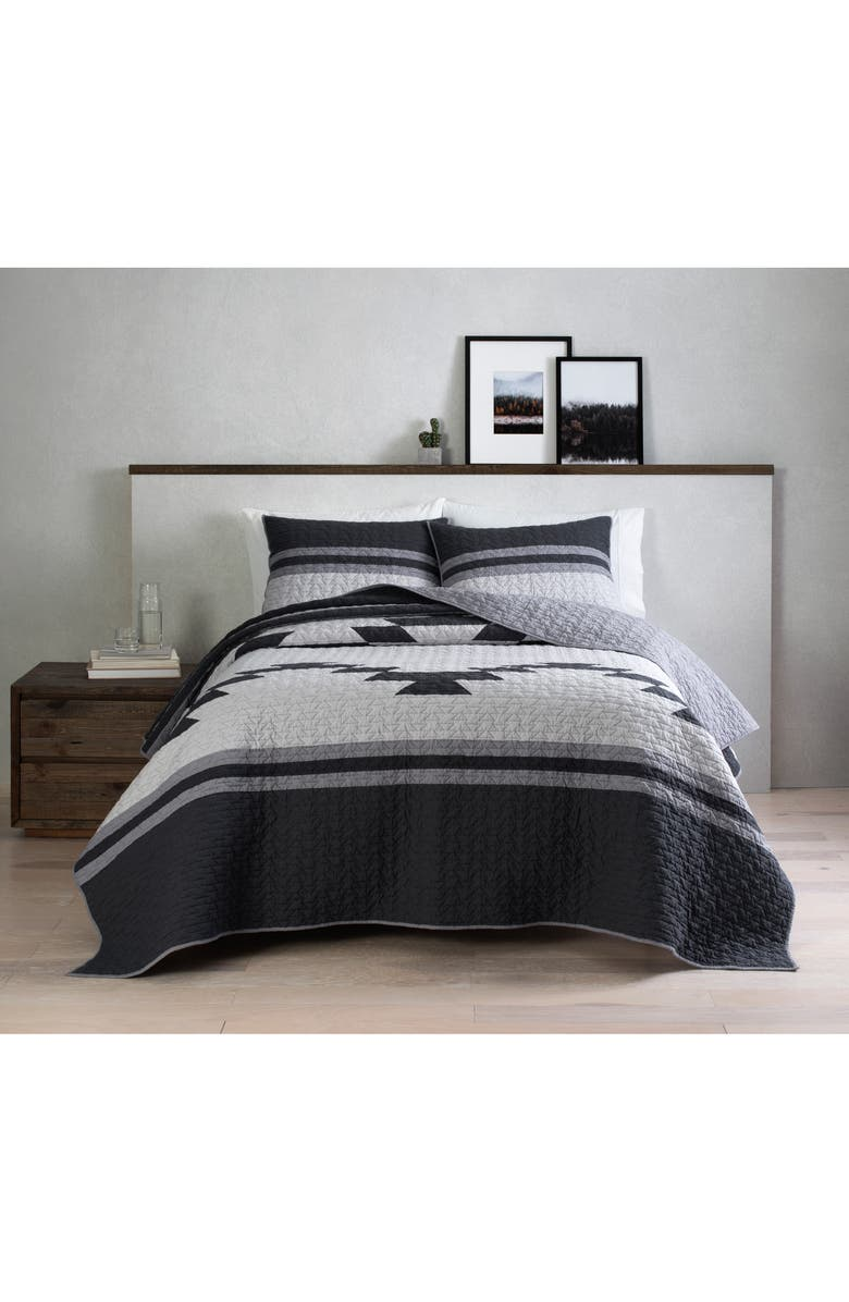 PENDLETON Stormbreaker Quilt & Sham Set, Main, color, CHARCOAL