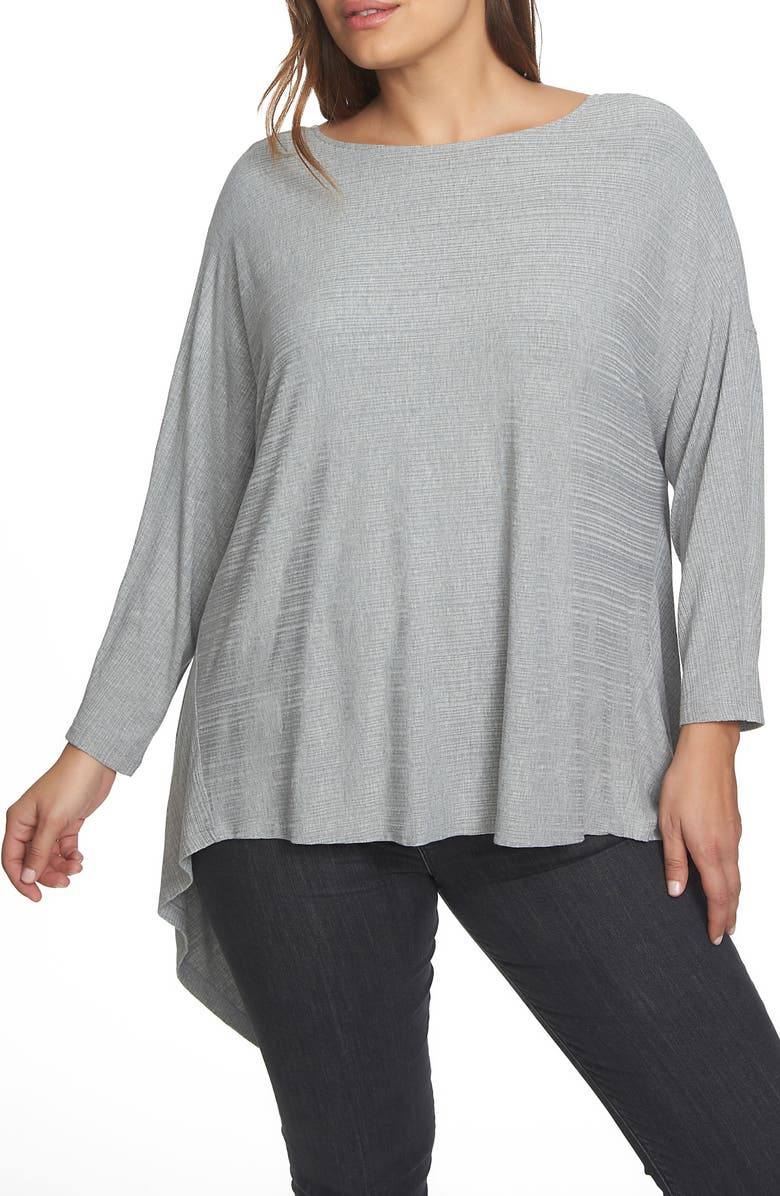 1.STATE Knot Knit Reversible Top, Main, color, GREY HEATHER