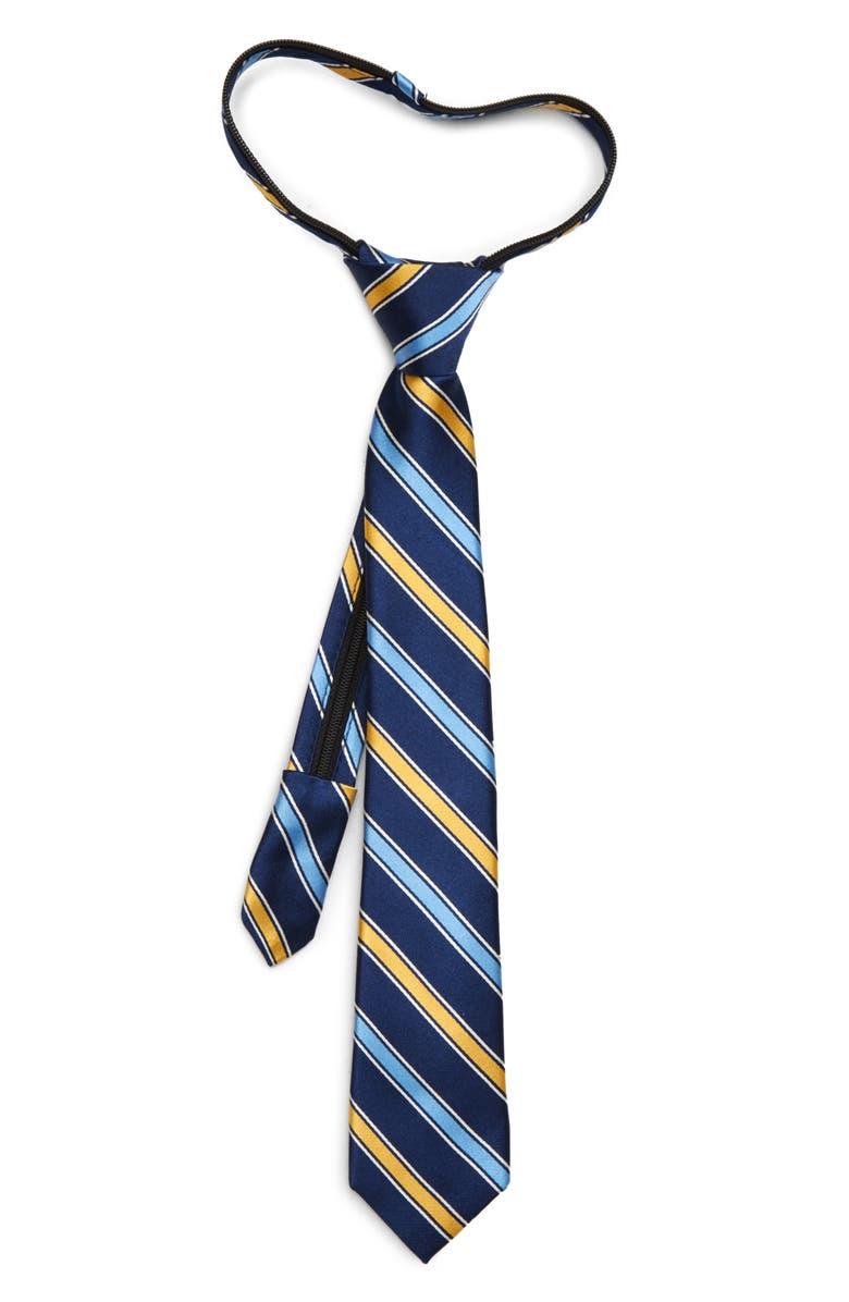 NORDSTROM Nico Stripe Silk Zipper Tie, Main, color, 700