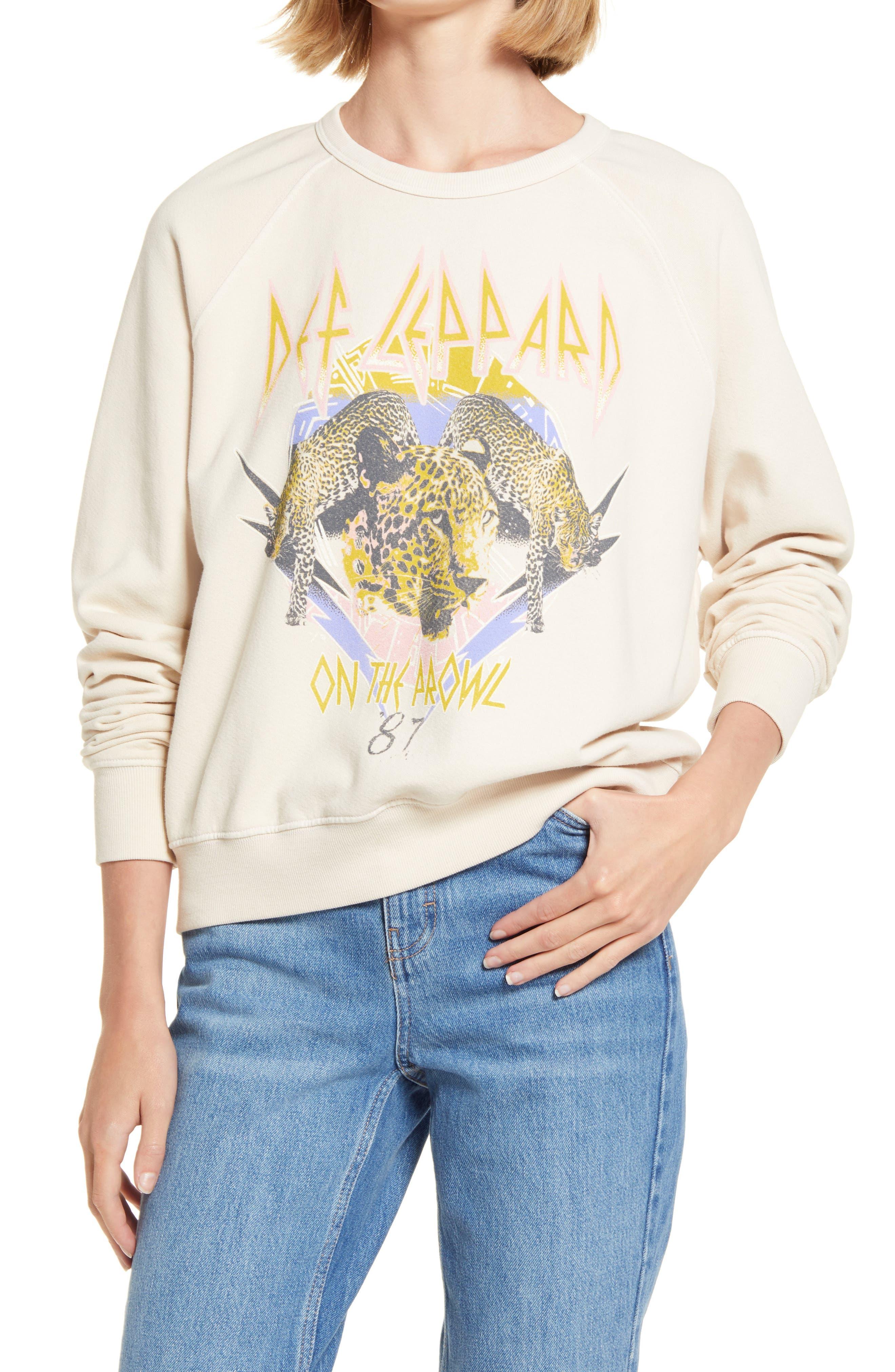 Daydreamer Def Leppard On the Prowl Sweatshirt | Nordstrom