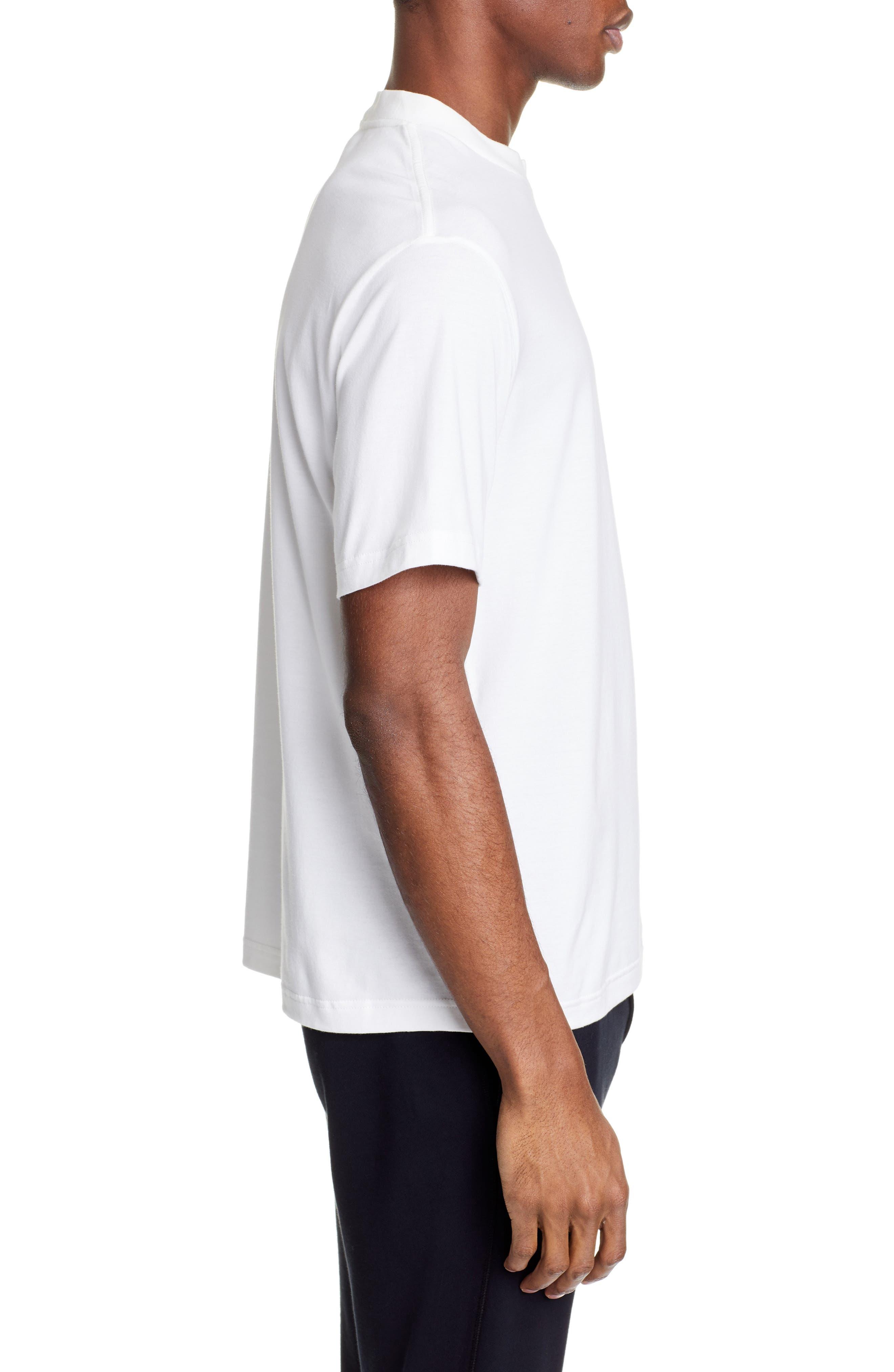 ,                             Logo T-Shirt,                             Alternate thumbnail 3, color,                             CORE WHITE
