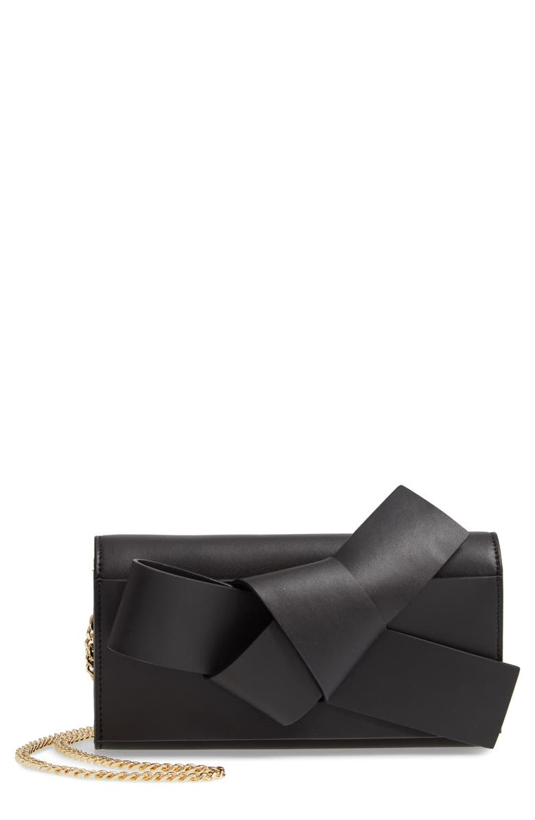 TED BAKER LONDON Knot Detail Wallet on a Chain, Main, color, 001