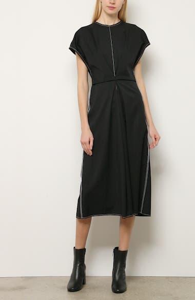 Inverted Tuck Draped Dress, video thumbnail
