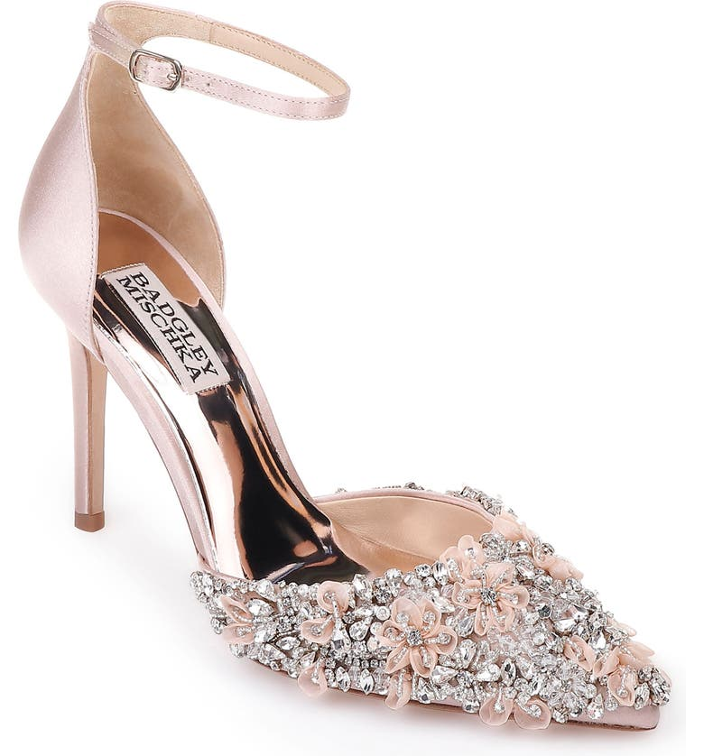 BADGLEY MISCHKA COLLECTION Badgley Mischka Fey Embellshed Ankle Strap Pump, Main, color, 686