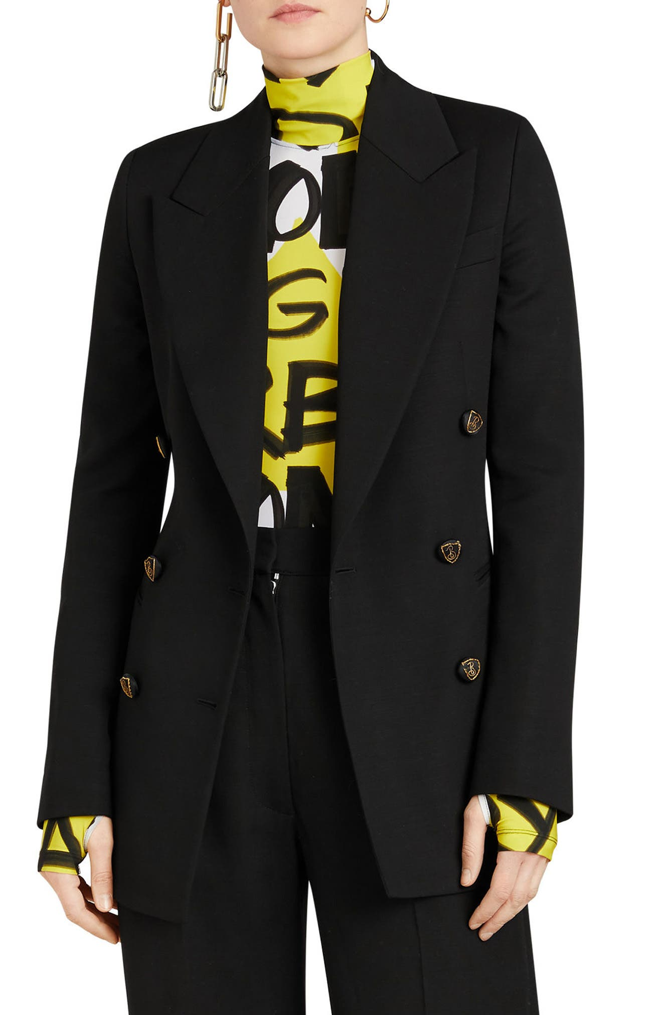 ,                             Patterdale Wool & Silk Jacket,                             Main thumbnail 1, color,                             BLACK