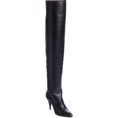 Saint Laurent Kiki Over The Knee Boot - Black