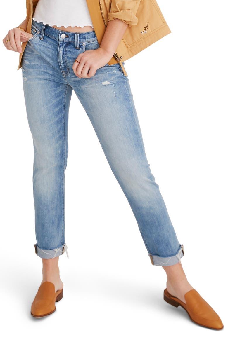 later how to buy attractive price The Slim Boyjean Raw Hem Boyfriend Jeans