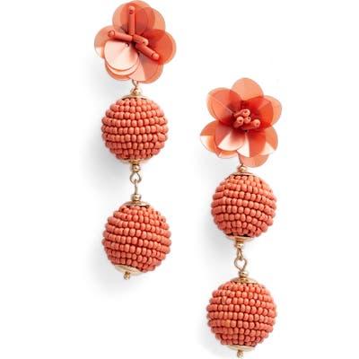 Bp. Beaded Flower Drop Earrings