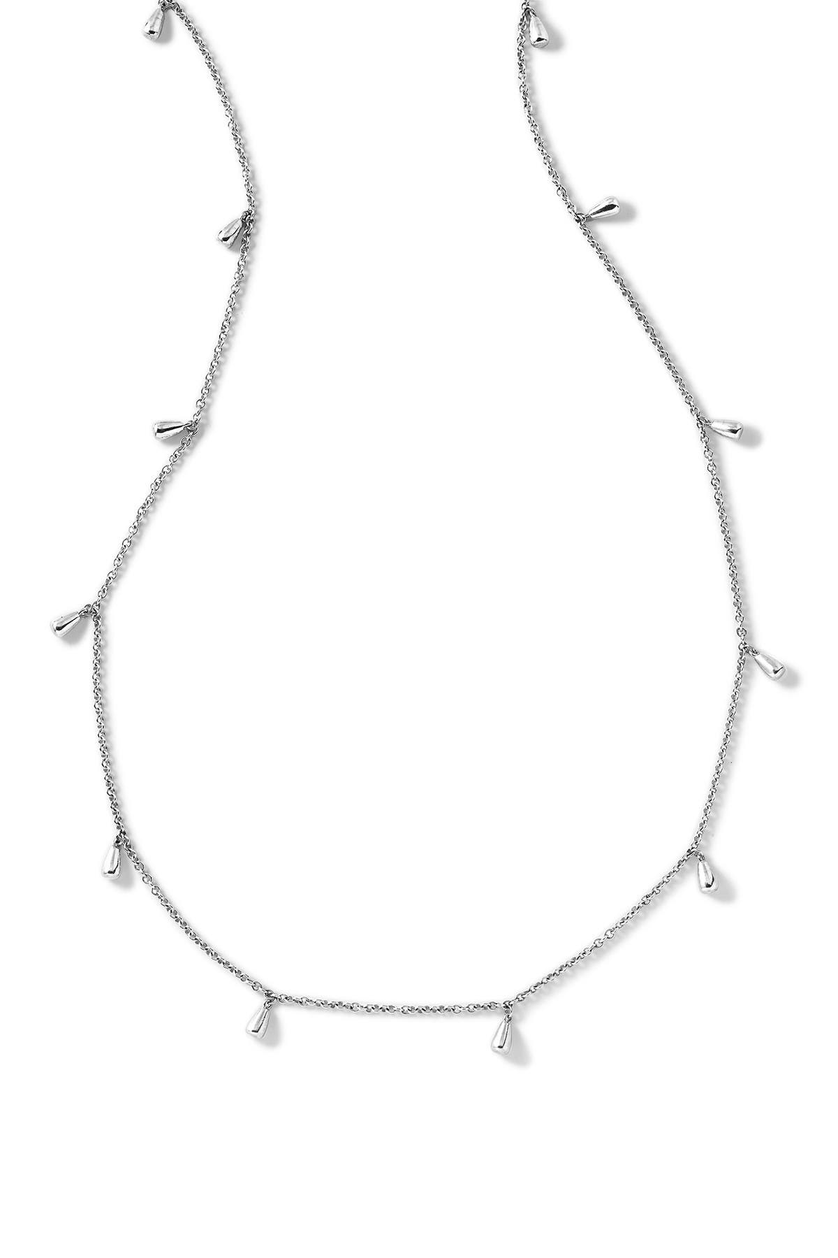 Image of Ippolita Sterling Silver Classico Long Rose Petal Necklace