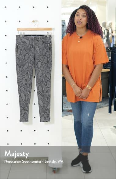 Ab-solution Print Side Zip Ankle Skinny Jeans, sales video thumbnail