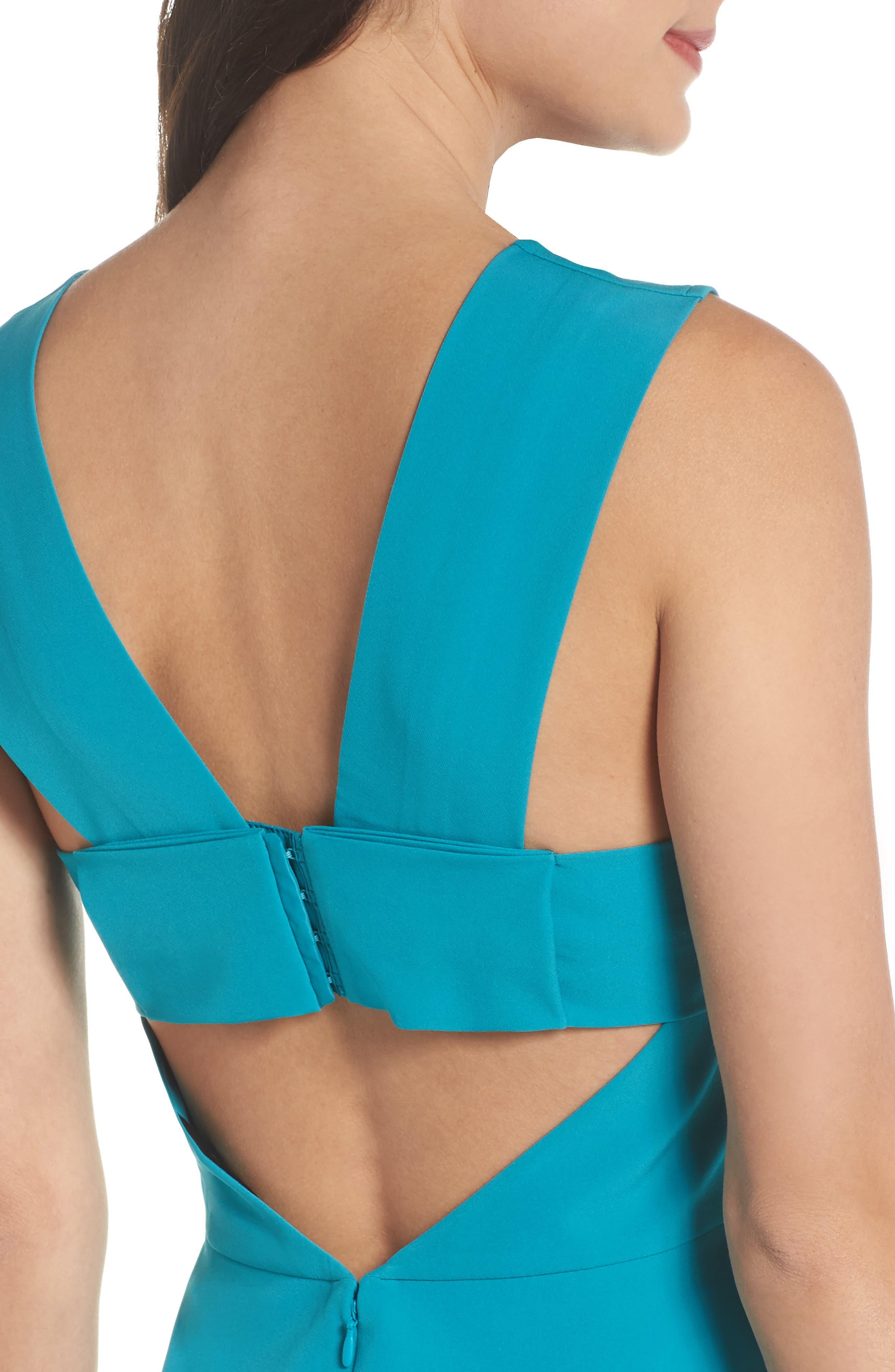 ,                             Bianca Back Cutout Fit & Flare Dress,                             Alternate thumbnail 38, color,                             420