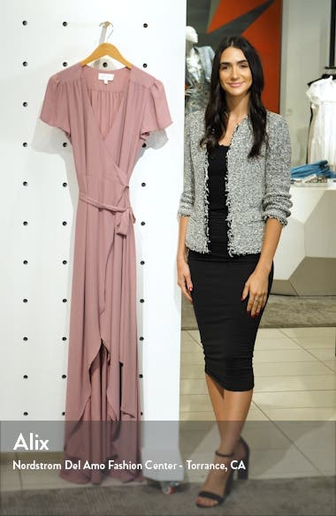 The Zoey Short Sleeve Wrap Gown, sales video thumbnail