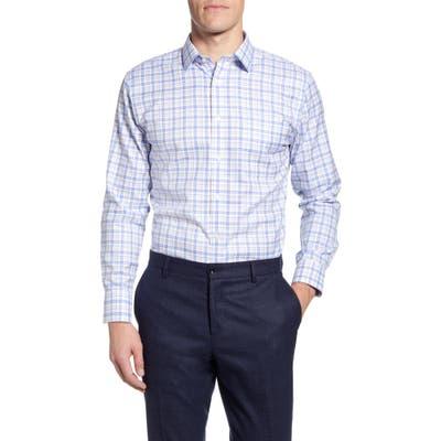 Nordstrom Shop Smartcare Trim Fit Plaid Dress Shirt, Beige