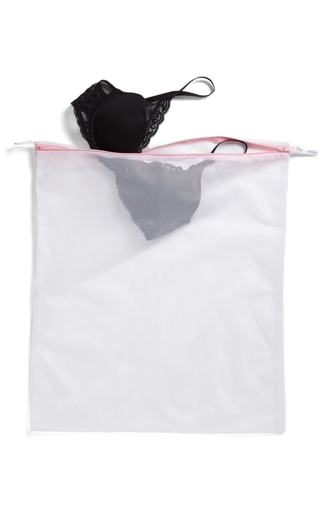,                             Large Lingerie Wash Bag,                             Alternate thumbnail 3, color,                             WHITE