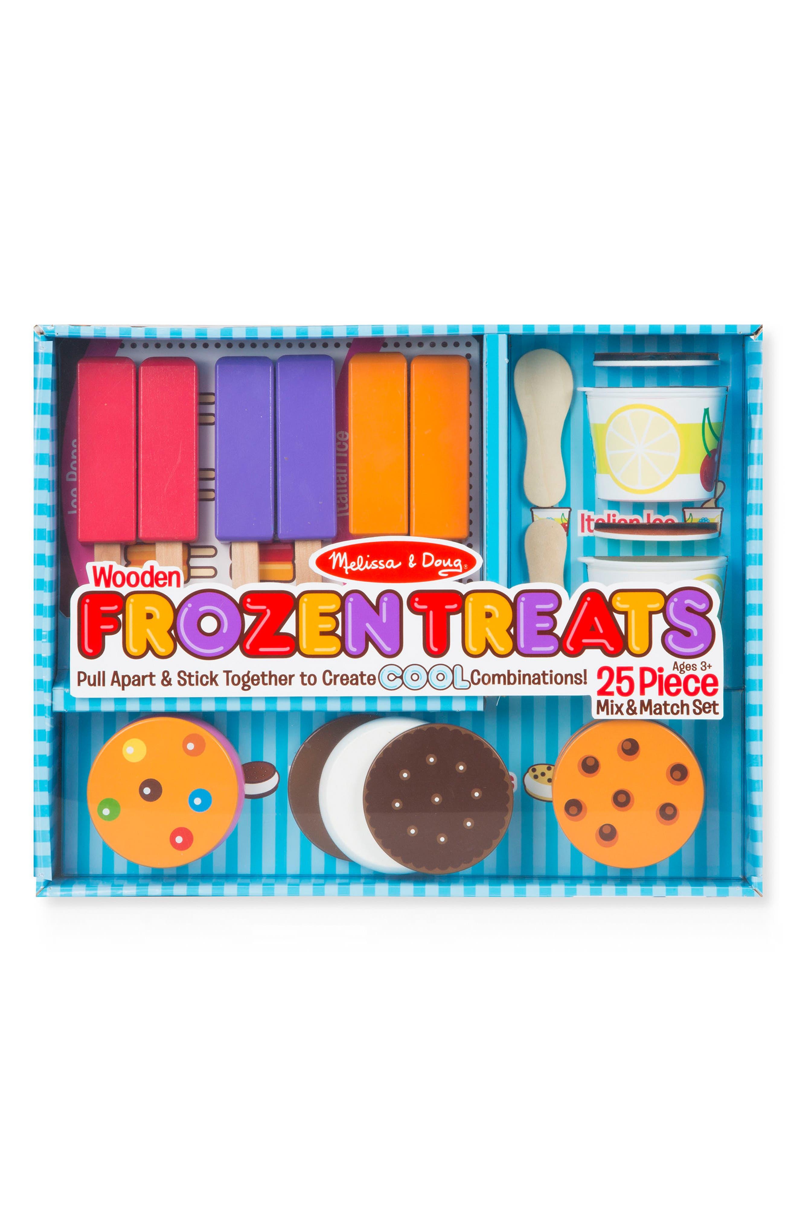 25-Piece Frozen Treats Play Set, Main, color, BLUE