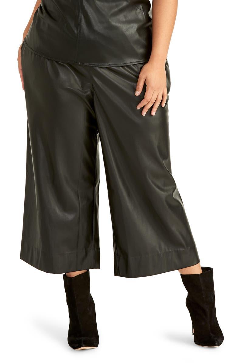 RACHEL RACHEL ROY Jaz Faux Leather Pants, Main, color, 001