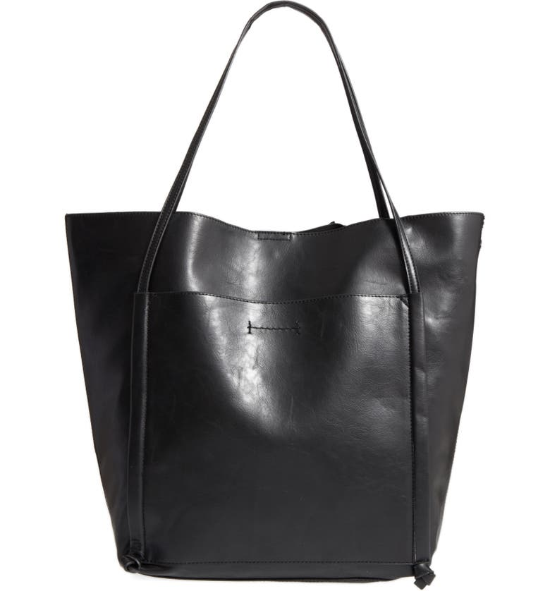 SOLE SOCIETY Harley Faux Leather Tote, Main, color, 001