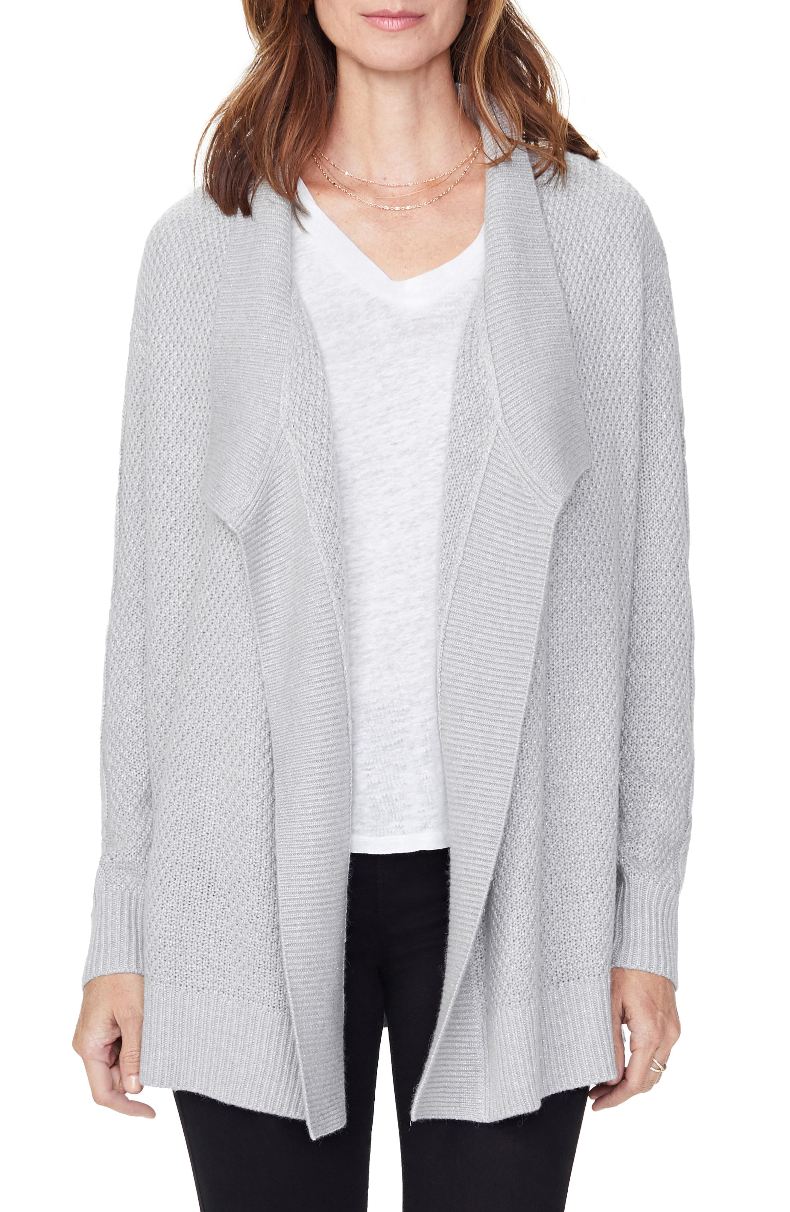 Image of NYDJ Draped Cable Knit Cardigan