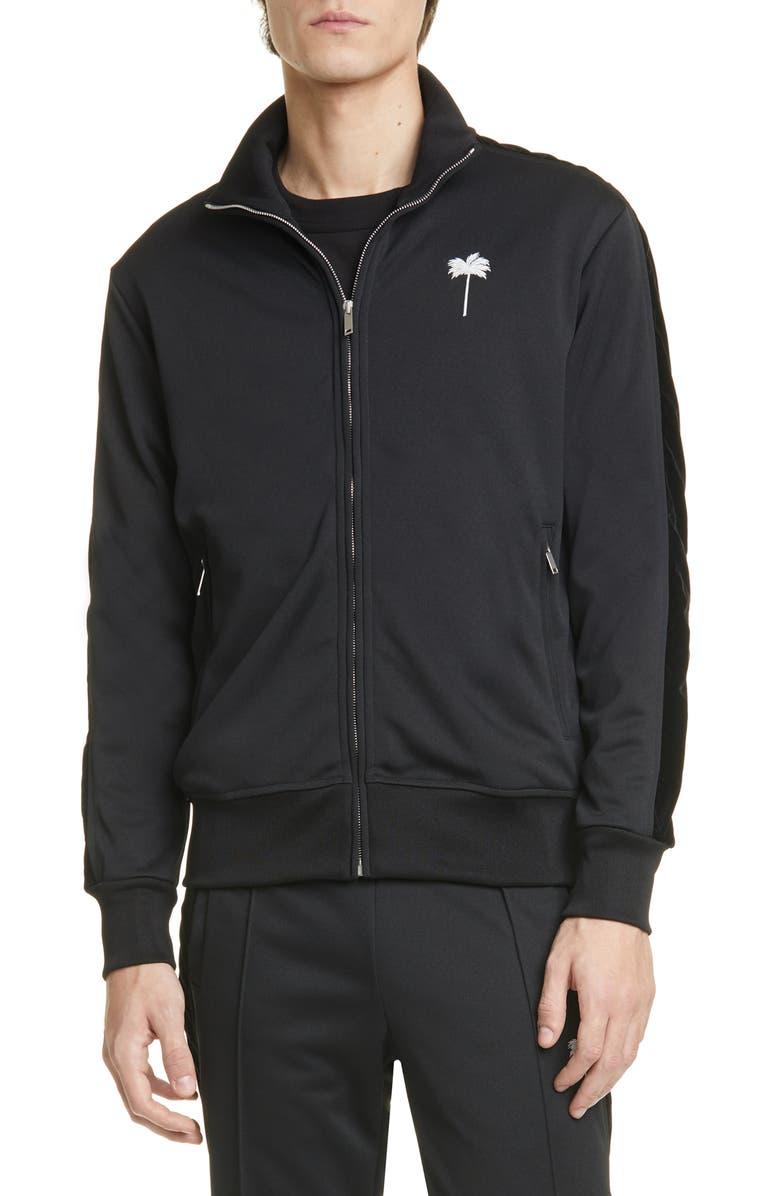 PALM ANGELS PxP Track Jacket, Main, color, BLACK WHITE