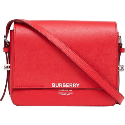 Burberry Small Grace Leather Bag - Red