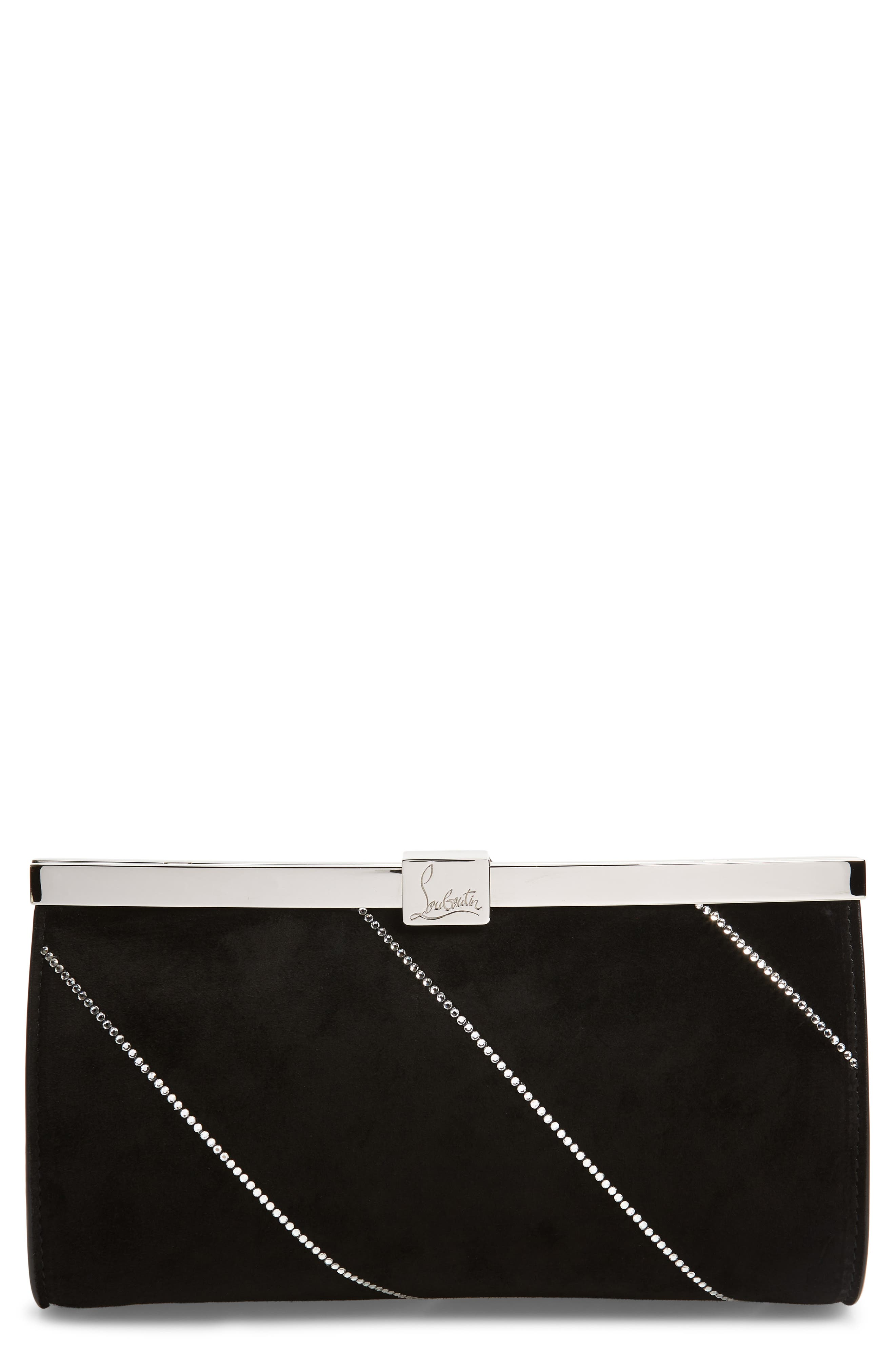 Christian Louboutin Small Palmette Embellished Clutch   Nordstrom